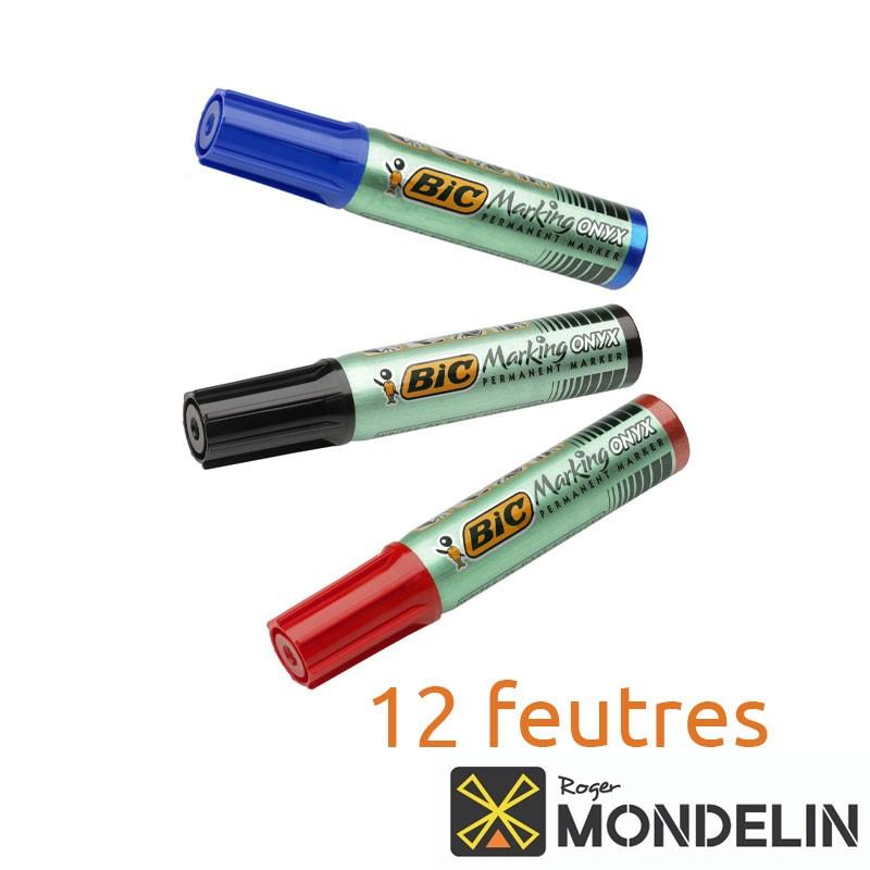 Boîte de 12 grands feutres indélébiles Onyx-Marker Mondelin