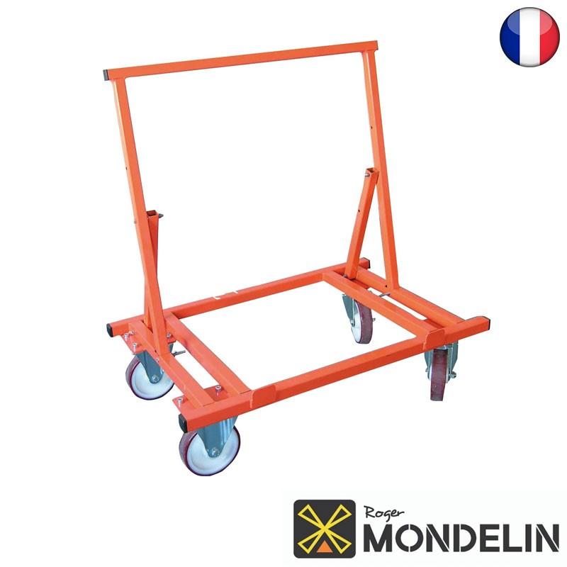 Chariot porte-plaques 4 roues Mondelin