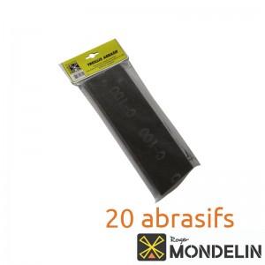 Lot de 20 treillis abrasifs grain moyen 100 Mondelin