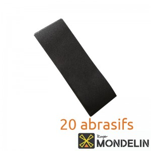 Lot de 20 papiers à poncer grain moyen 100 Mondelin