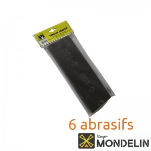 Lot de 6 treillis abrasifs grain 60-80-120 Mondelin