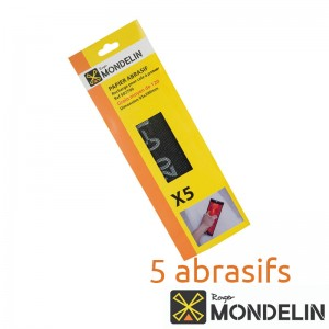 Lot de 5 abrasifs grain 120 Mondelin