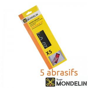 Lot de 5 abrasifs grain 120 Mondelin