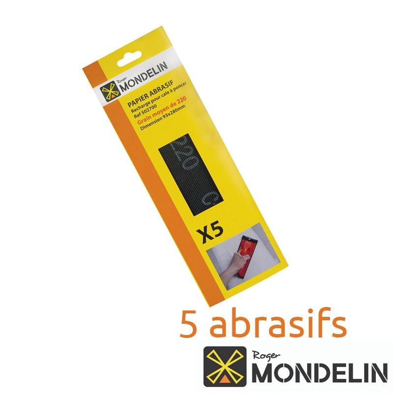 Lot de 5 abrasifs grain 220 Mondelin