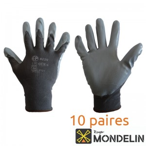 Lot de 10 paires de gants polyamide enduction nitrile T10 Mondelin