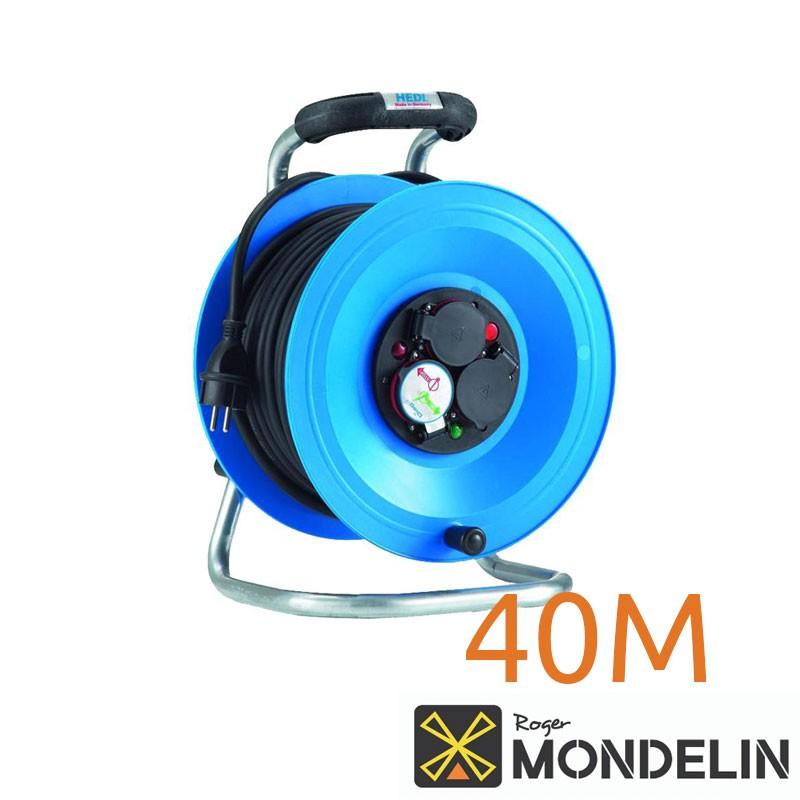 Enrouleur prolongateur électrique 3 prises Mondelin 40M