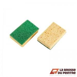 Lot de 2 éponges avec fibre verte LBDP