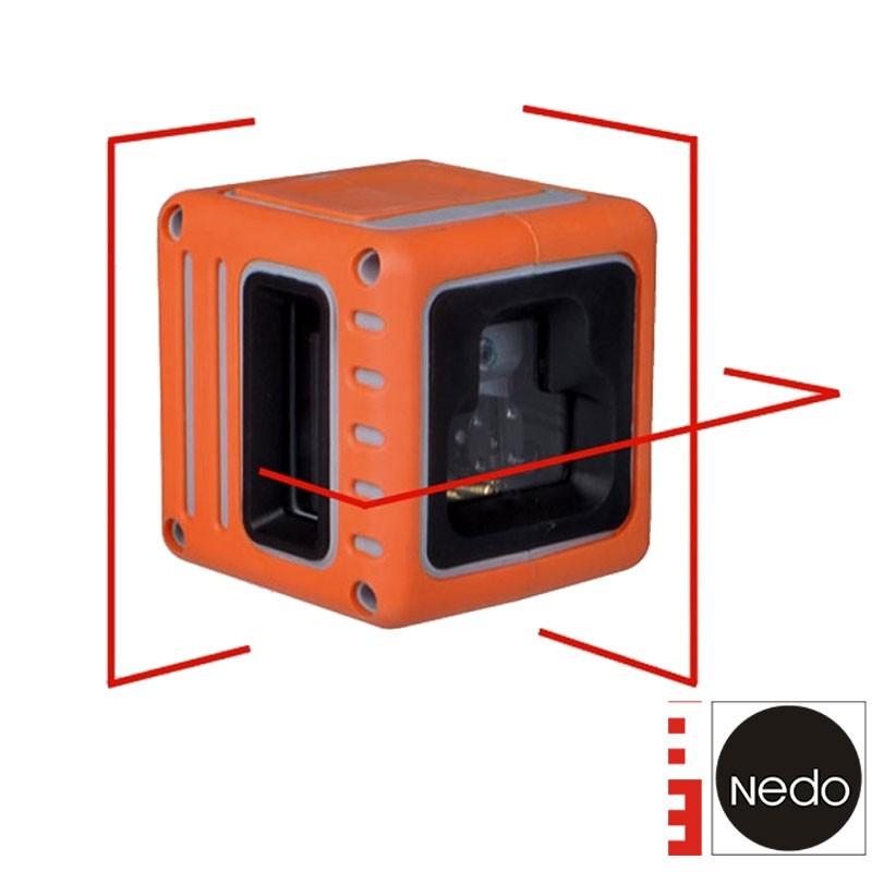 Laser Multiligne Cube rouge Nedo