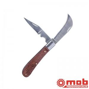 Couteau d'électricien 2 lames bois MOB