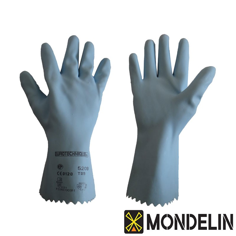 Gants latex T9 Mondelin bleu