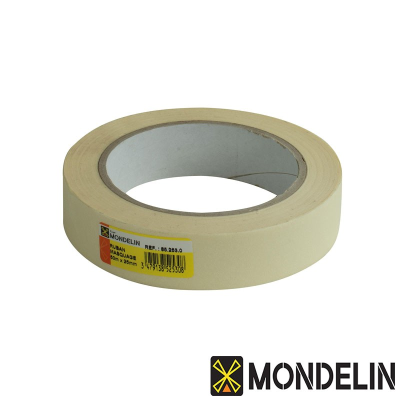 Ruban de masquage papier Mondelin blanc