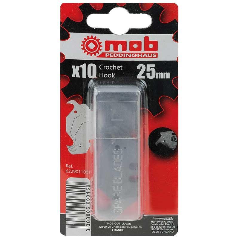 Boîtes de 10 lames crochet 25mm MOB