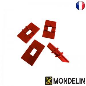 Lot de 4 cales reversibles pose-lame Mondelin 4/6mm