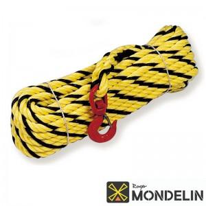 Corde à poulie polypropylène Mondelin jaune/noir