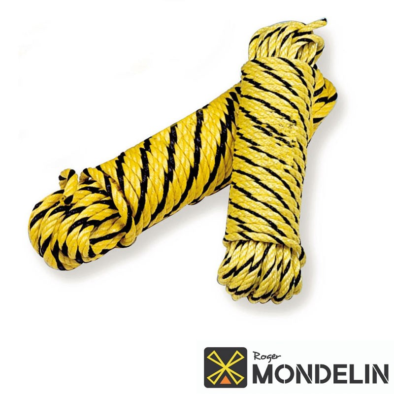 Cordage polypropylène résistance 1560kg Mondelin jaune/noir