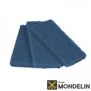 Lot de 3 tampons abrasifs Mondelin bleu