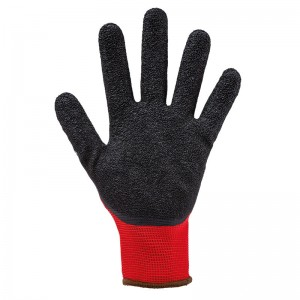 Gants enduction latex T9 Maçon Mondelin rouge