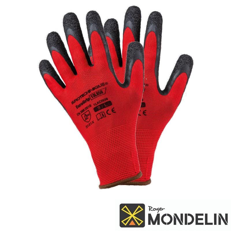 Gants enduction latex T9 Maçon Mondelin rouge
