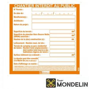 Panneaux permis de construire Mondelin 80x80cm