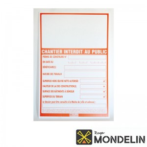 Panneaux permis de construire Mondelin 80x120cm