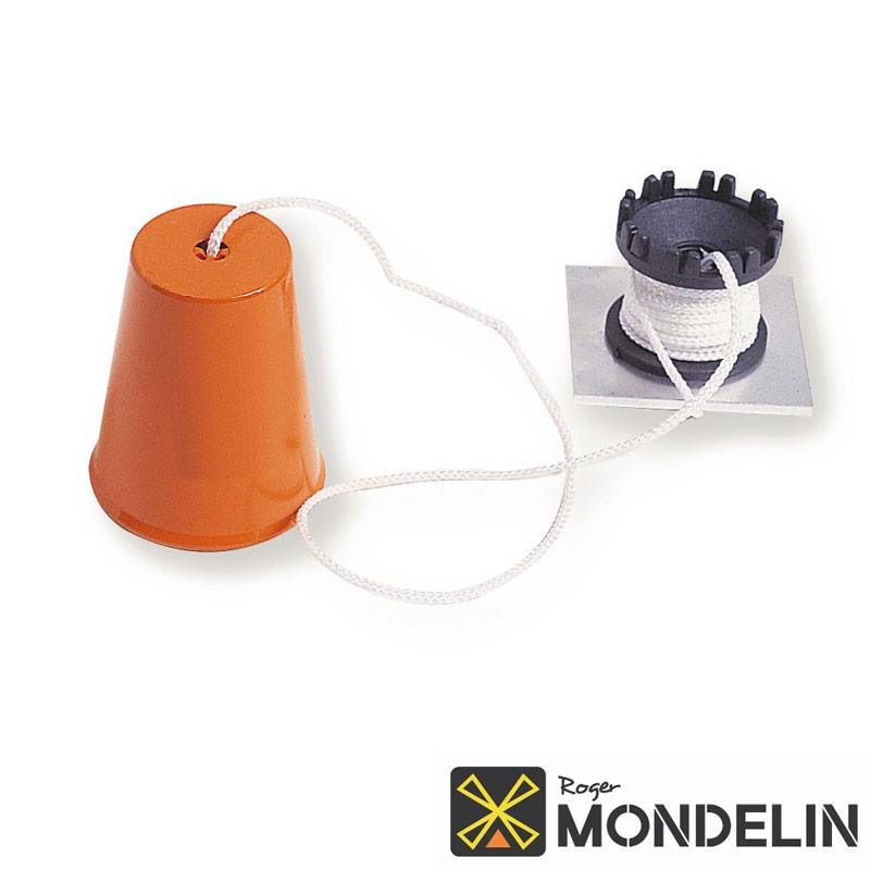 Plomb de maçon avec enrouleur et cordeau Mondelin