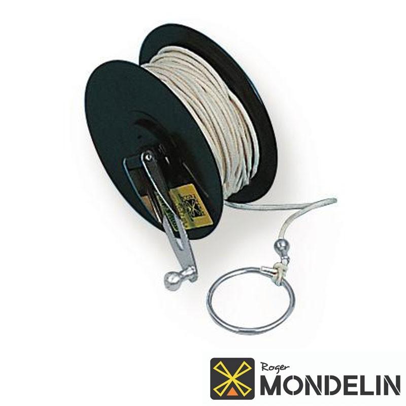 Cordeau de rechange en bobine coton cablé Mondelin 50M