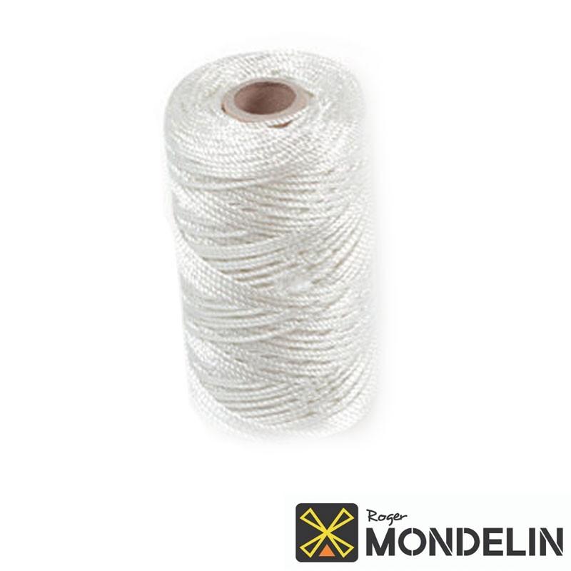 Cordeau en bobine polyamide câblé Mondelin 200M