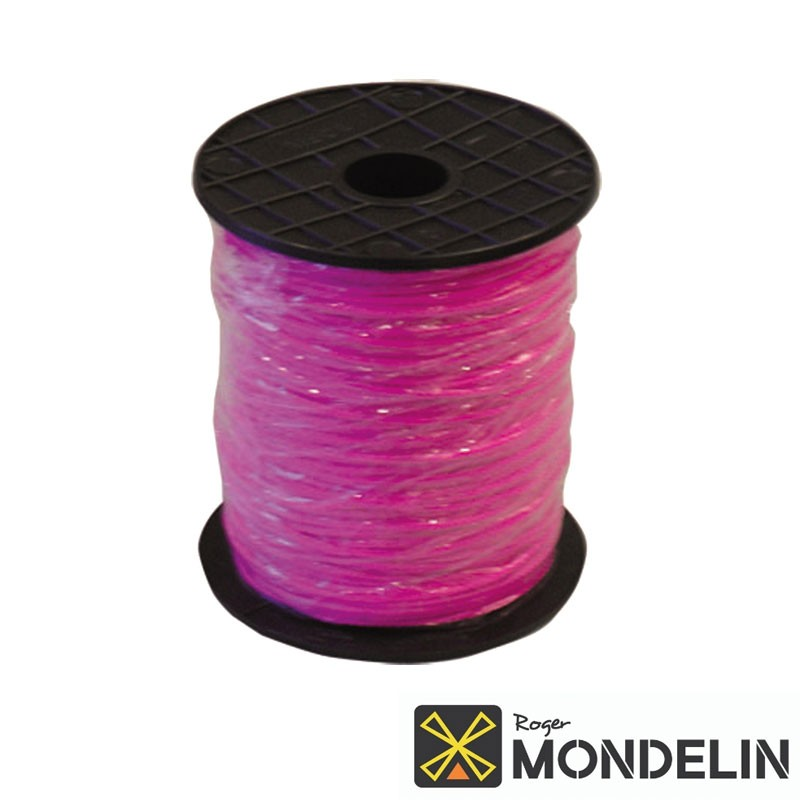 Tresse en bobine résistance 35kg Mondelin rose fluo