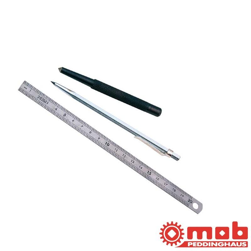 Kit de traçage avec reglet tracette et pointeau MOB