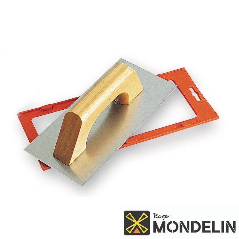 Platoir biseauté inox/bois Espagnol Mondelin 28x12cm