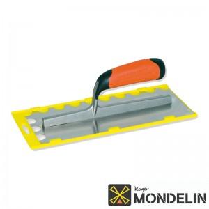 Platoir denté 1/2 rond inox/bi-mat Mondelin 28x12cm