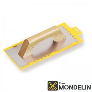 Platoir denté carré inox/bois Espagnol Mondelin 28x12cm