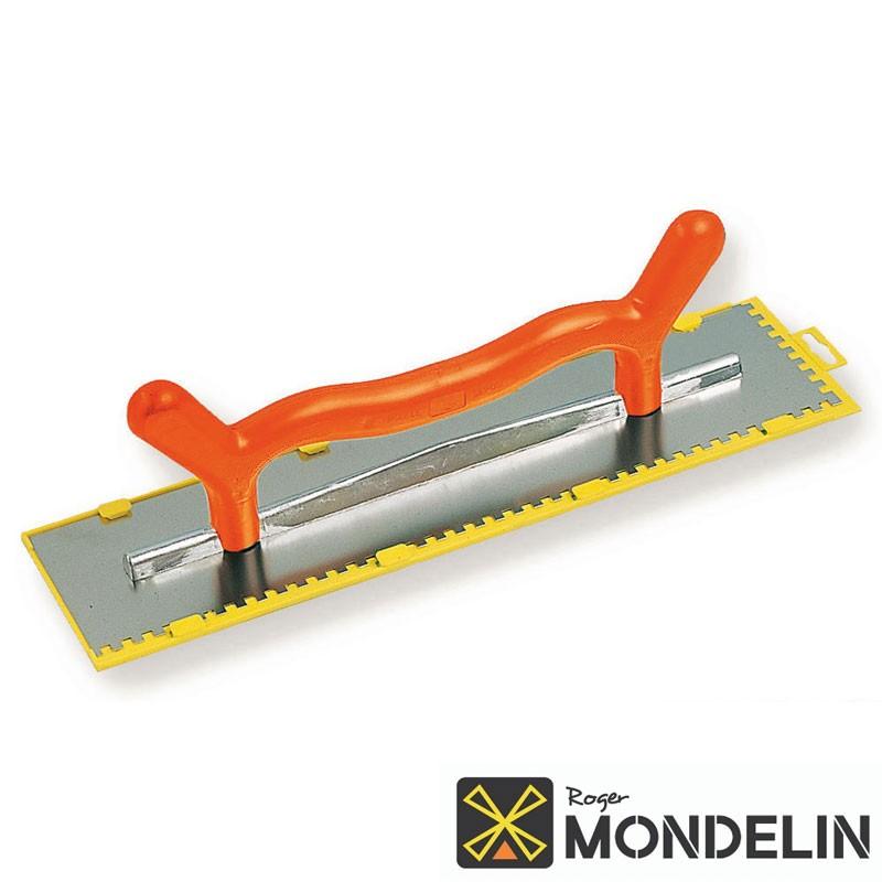 Platoir 2 mains denté à colle inox/plastique Mondelin 50x12cm