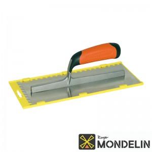 Platoir denté carré inox/bi-mat Mondelin 28x12cm