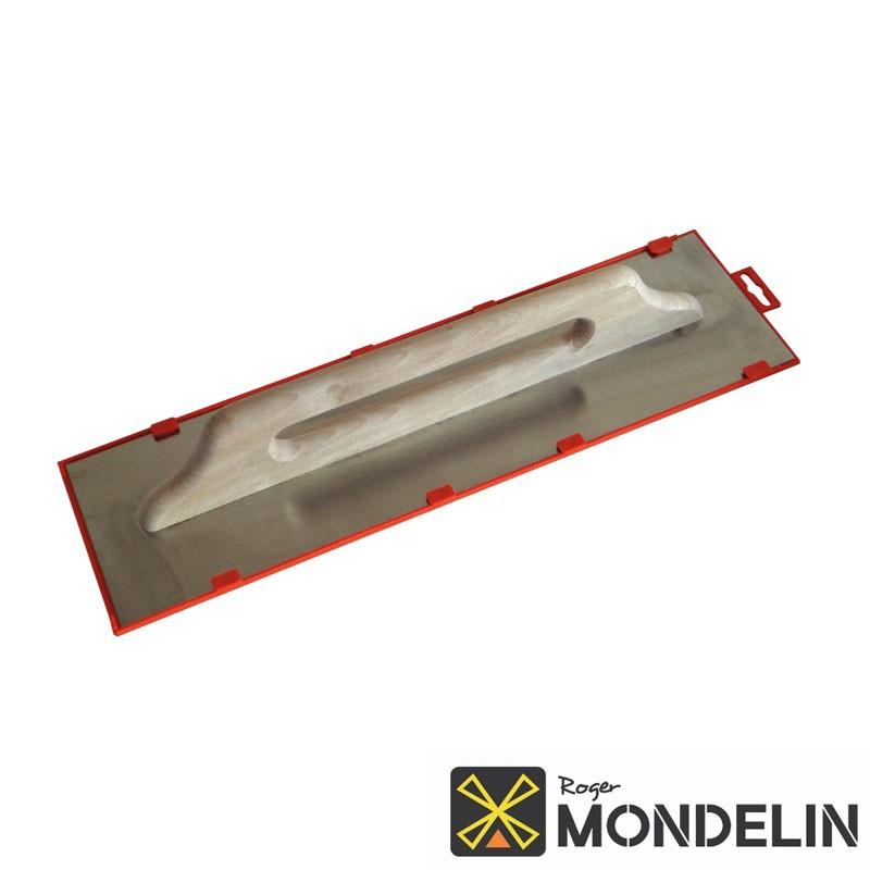 Platoir 2 mains biseauté Suisse inox/bois Mondelin 50x14cm