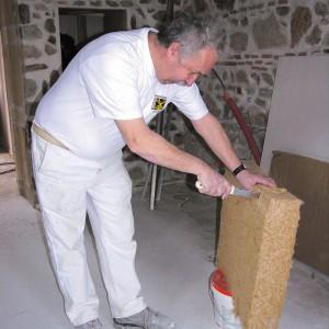 Couteau pour matériaux isolants Mondelin manche bois