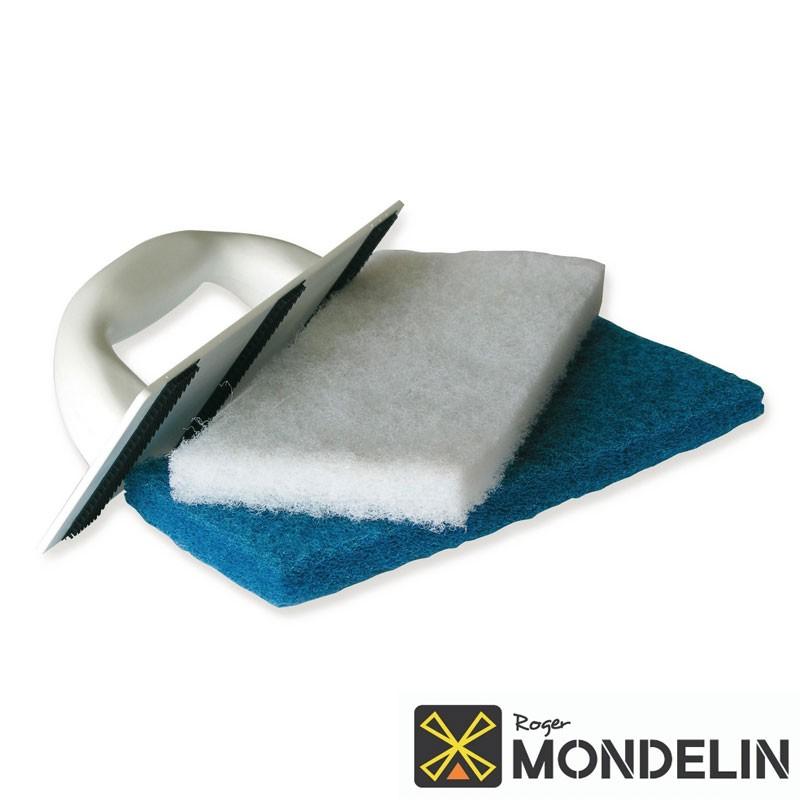 Platoir à nettoyer Monobloc + 2 tampons Mondelin