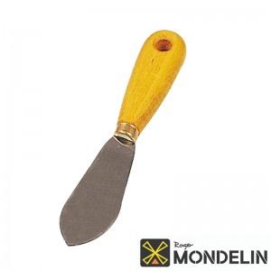 Couteau à mastiquer courbé acier/bois Mondelin